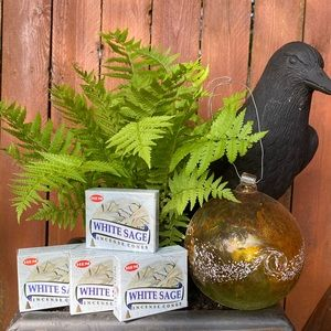 Hem White Sage Incense Cones 4 Boxes NEW FIRM